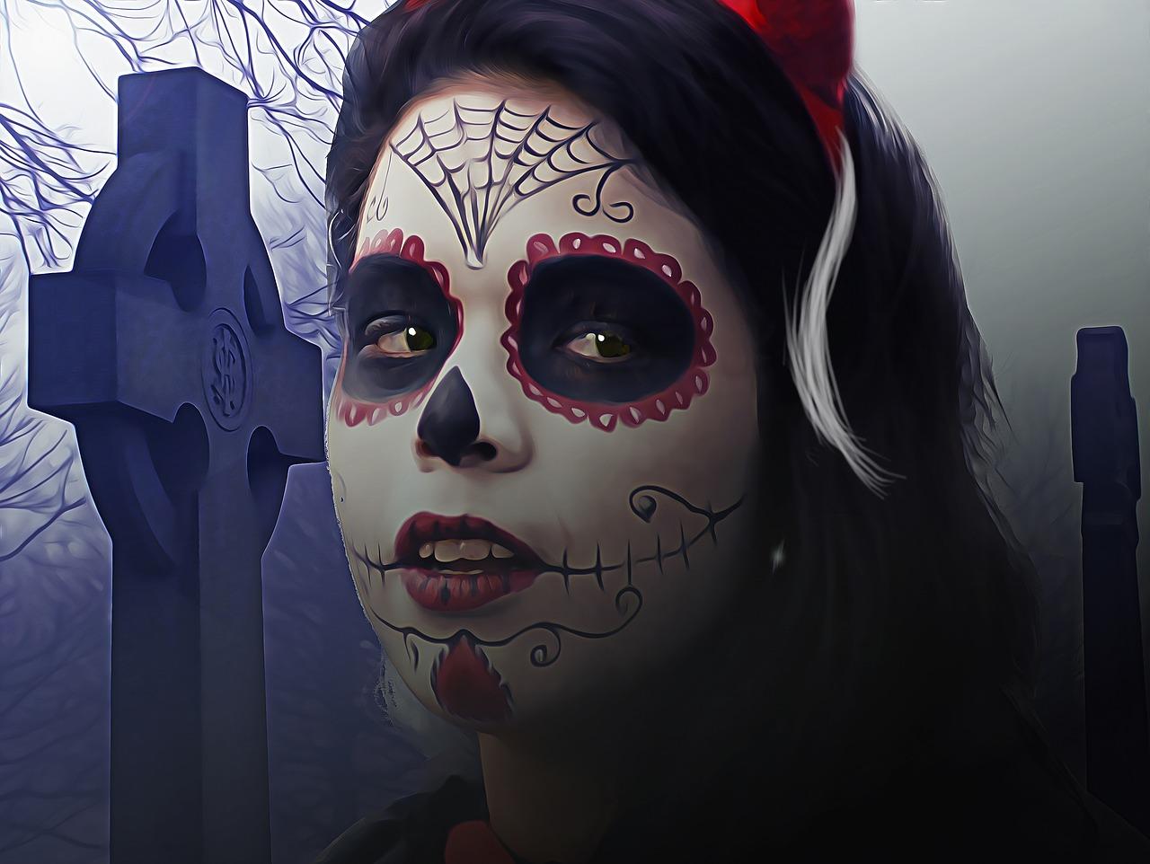 Halloween Make-up schminken